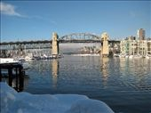 Chillin at Granville Island. Note the snow - bizarre: by sair, Views[154]