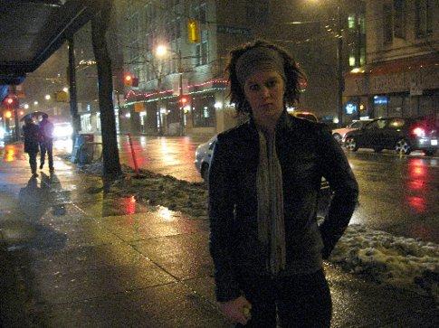 Dark times on the streets of Van....snowing again NYE