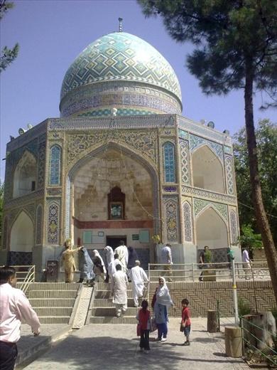 Qadam gah means place where Imam Raza's footprints can be seen