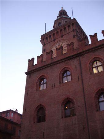Clock of Piazza Maggiore (Main piazza in Bologna)