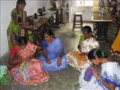 girls in an IGL village church making baskets.  IGL life centers train these women to make marketable goods. before this training, the women had no other profitable skill sets.: by salvation_karmy, Views[196]