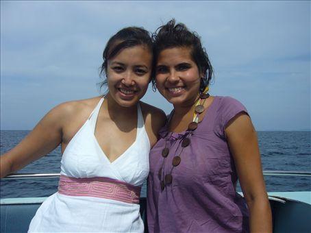 Cindy-lou et moi sur le speedboat