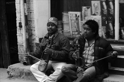 street concert at darjeeling. great tribal music