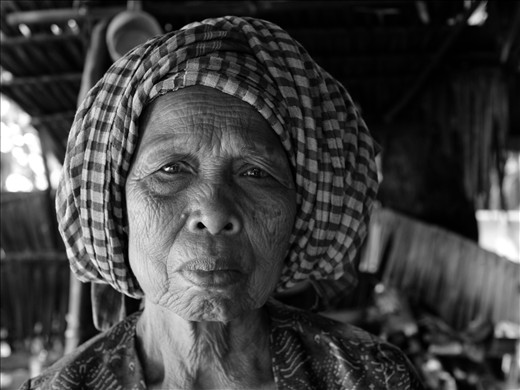 Elderly woman, in hill tribes, bordering Laos