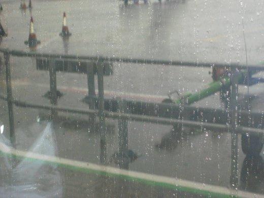 such heavy rain! delayed my flight. Lots of turbulence.
