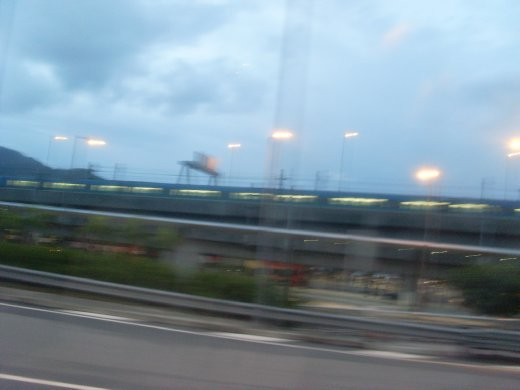 start of bus journey. Most are blurry cause im on the mov sorry! Trust me though i crossed  brisge and saw amazing views of the city island type thingies.