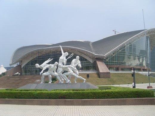 more statue and big stadium