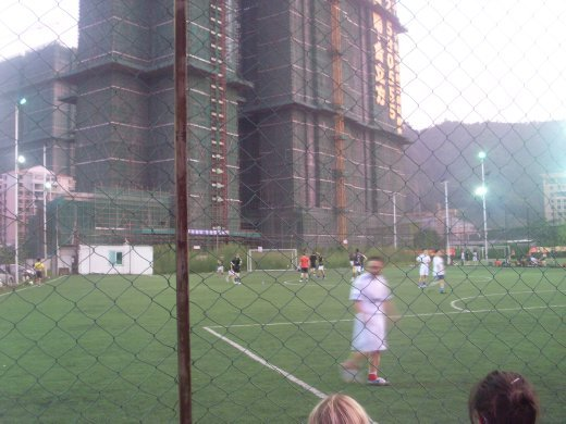 the football pitch! kind of.