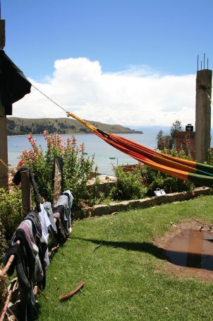 Not a bad spot to sit and wait for your washing to dry!