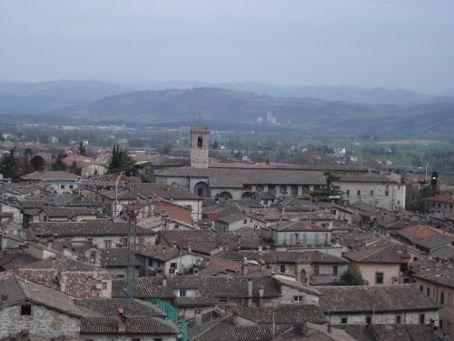 Roof tops of Gubbio, Umbria