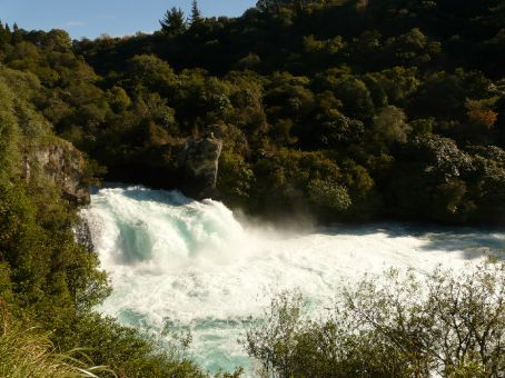 The Huka falls - near Lake Taupo
