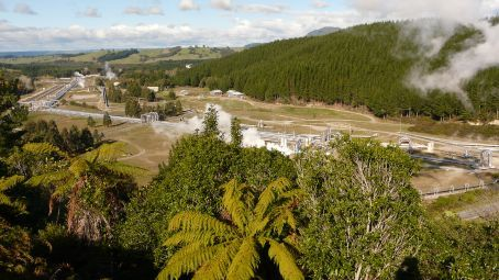 Geothermal power station in Rotorua