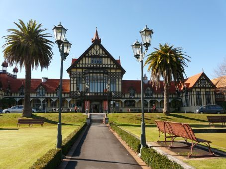the Bath house (now museum) in Rotorua