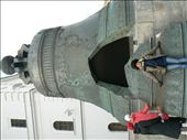 the 'Tsar' bell - the biggest in the world. The bit that's fallen out alone weighs ten tons!: by sarahandphil, Views[329]