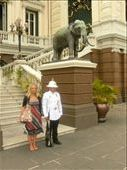 with a Grand Palace guard. Can I have my super-tourist brownie badge yet?: by sarahandphil, Views[354]