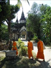 monks at a Chaing Mai temple: by sarahandphil, Views[313]