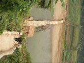 a rickety bridge in Luang Prabang: by sarahandphil, Views[257]