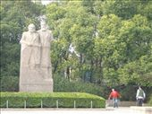 Statue of Marx and Engels - wonder what they'd make of the rampant capitalism?: by sarahandphil, Views[264]