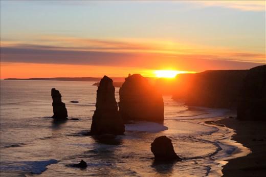 The 12 Apostles at Sunset.