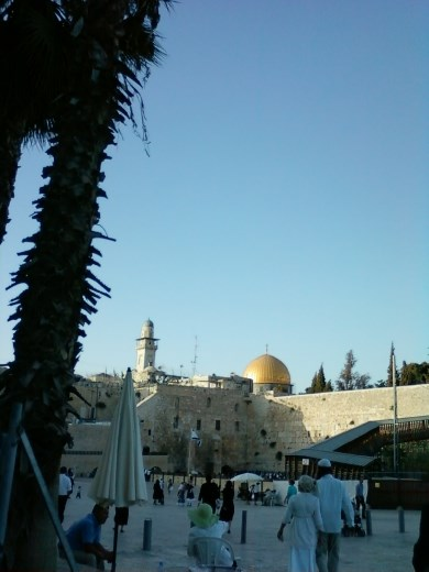 View of the Wailing Wall and the Dome of the Rock