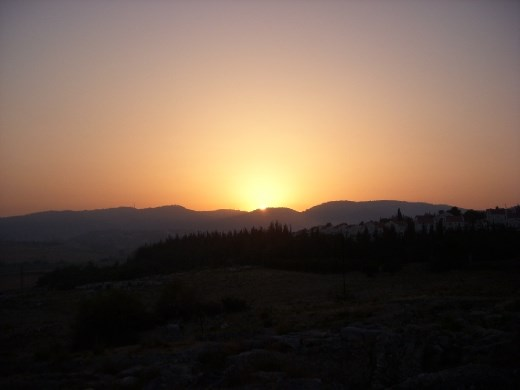 Sunrise over Bet Shemesh from our site!