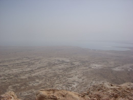 Dead Sea from the top of Masada