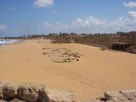 A view of the Hippodrome at Caesarea Maritima