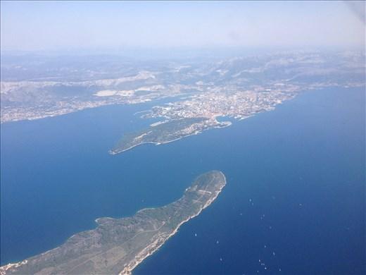 An aerial view of Split