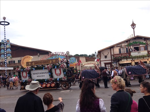 Part of the Sunday parades for Oktoberfest