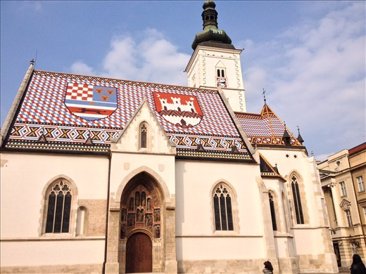 Cool church roof in Zagreb