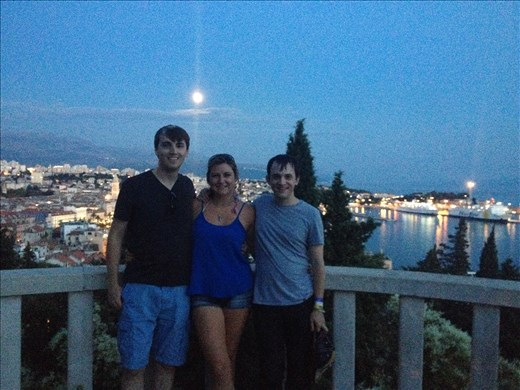 Cameron, Nicole and I at a viewpoint in Split