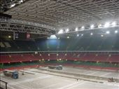 Inside the Millenium Stadium.  They were re-laying the grass.: by scottie, Views[352]