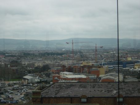 View from the Guiness factory