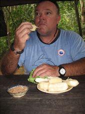 Bill eating Semolina dipped in a mixture of Salt,Sugar and peanuts: by scubastephb, Views[152]
