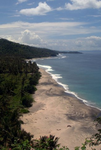 overlooking senggigi beach