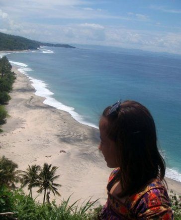 me overlooking the beach