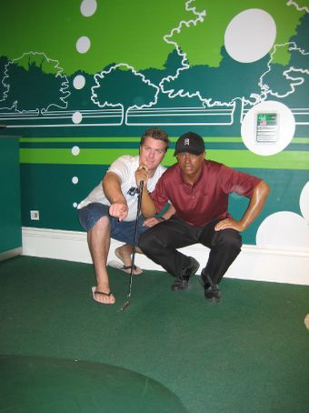 Giving Tiger a few tips