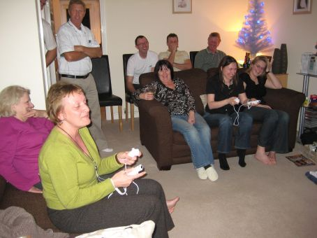 Watching the Wii olympics from the gallery