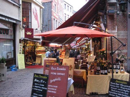Restaurant street in Brussels
