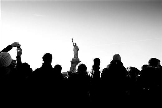 Statues of tourists.