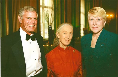 With Jane Goodall in better times