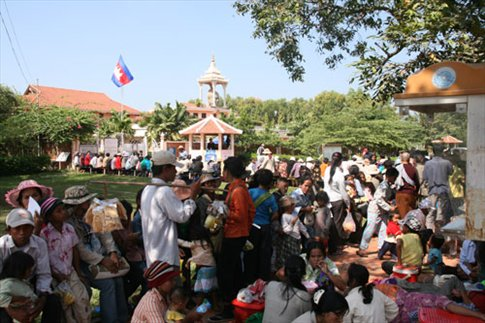 The queue at Children's Hospital, Siem Reap