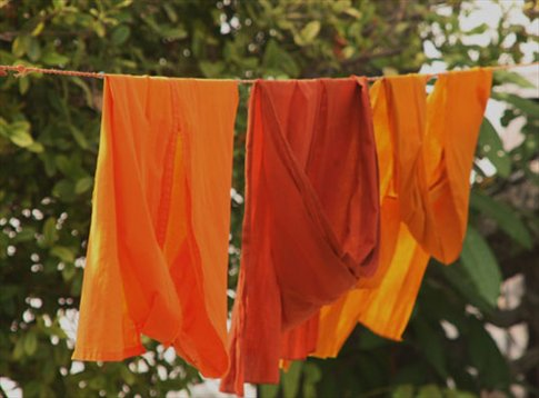 Even monks have dirty laundry, Luang Prabang