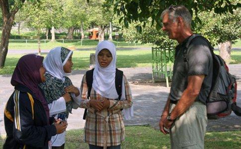 English practice, Prambanan
