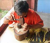 Carving shadow puppets, Yogyakarta: by seesea, Views[669]