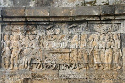 One the Borobudur murals