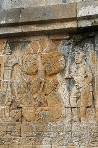 Borobudur mural