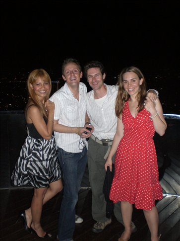 Kai, Jack, Bobby and Kate at the top of the State Tower in Bangkok