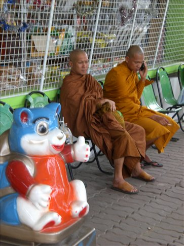 Monks on mobiles