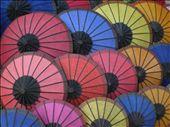 Umbrellas at the street market in Luang Prabang: by seilerworldtour, Views[162]